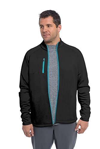 Soybu Men's Apres Sport Jacket, Black, Large (Apres Golf)