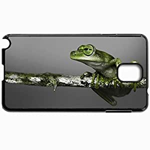 Customized Cellphone Case Back Cover For Samsung Galaxy Note 3, Protective Hardshell Case Personalized Frog Branch Climbing Color Black