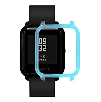 Saisiyiky Protector Compatible con Amazfit Bip Xiaomi Huami Smartwatch Transparente Funda Case Moda Colorido Marco Caso Cubierta Proteger Shell para ...