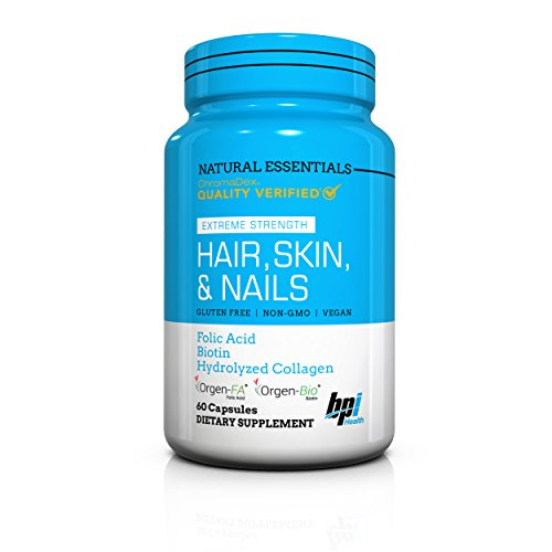 BPI Sports Natural Essentials, Hair, Skin & Nails with Biotin & Collagen, 60 Count For Sale