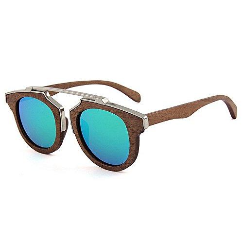 Adult Wayfarer Diseñador de metal de sol alta hecha playa Original madera de protección mano gafas UV a de de de de gafas madera de polarizadas Decoración calidad Eyewear sol Verde sol sol gafas de Gafas fqAwtErf