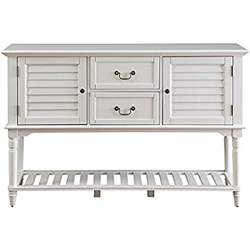 Provence Buffet with Wine Storage (ANTIQUE WHITE)