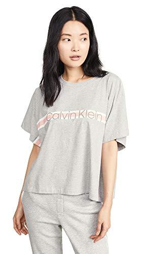 Calvin Klein Underwear Women's PJ Top, Grey Heather, Small Calvin Klein Womens Sleepwear