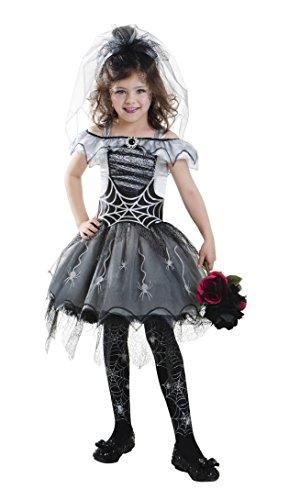 Goodmark Girls Gothic Spider Bride Halloween Costume Size Medium -