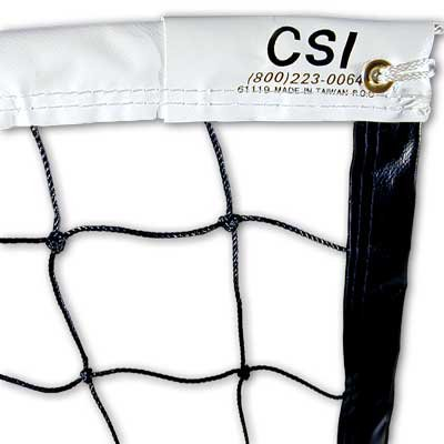 CSI 61119 32 ft. Varsity Volleyball Net with 40 ft. Top Poly Braid Cable