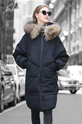5e057a7d8d8 Winter Jacket Coat Women Puffer Anorak Long Coat Quilted Snow Warm Parka  Down Faux Hooded Top