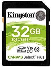 Kingston 32GB SDHC Canvas Select Plus 100R C10 UHS-I U1 V10 (SDS2/32GBCR)