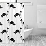 Border Collies Bathroom Shower Curtain Shower Printing Curtains Durable Polyester Bath Curtain Waterproof Bathroom Curtain with 7-12 Hooks 60x72 in 7