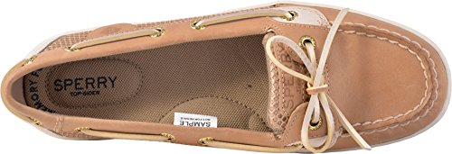 Sperry Top-sider Womens Angelfish Perforerad Båt Sko Linne / Guld