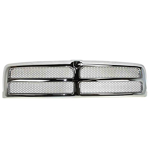 NEW 94-02 Ram Pickup Truck Front Chrome Grill Grille Assembly CH1200178 ()