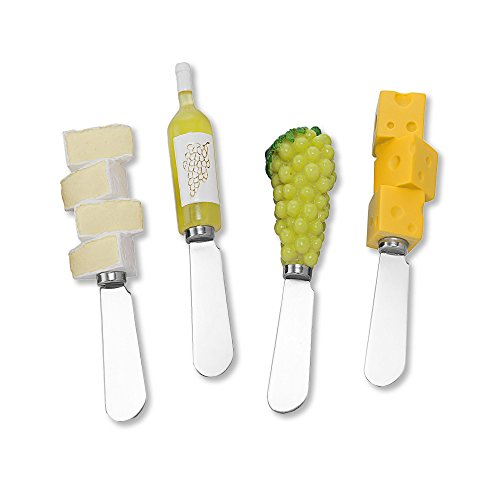 Wine Things White Wine Party Resin Cheese Spreaders Set of 4
