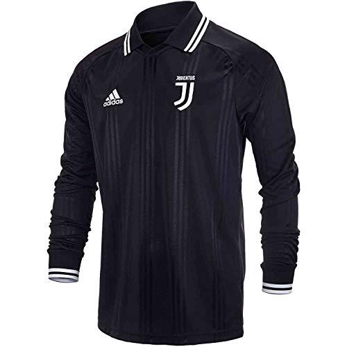 (adidas Men's Juventus Long Sleeve Retro Jersey (Medium) Black)
