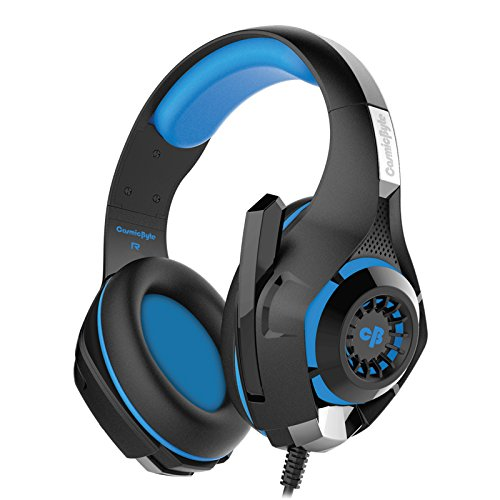 Cosmic Byte GS410 Headphones with Mic and for PS4, Xbox One, Laptop, PC, iPhone and Android Phones (Black/Blue) 172