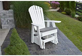 product image for Poly 2 Ft Single Adirondack Glider Chair - White