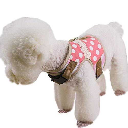 Pet Club Teacup Dog Harness with Leash for Walking Escape Proof, Fully Adjustable Vest Harnesses for Puppy/Kitten Cats Small Dogs 4lbs