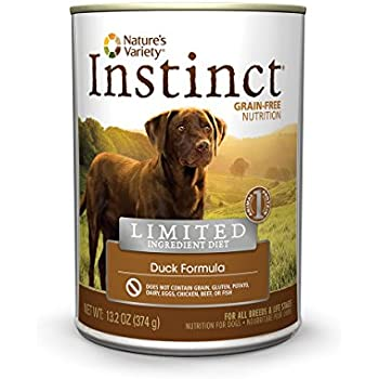 Instinct Limited Ingredient Diet Grain Free Duck Formula Natural Wet Canned Dog Food by Nature's Variety, 13.2 oz. Cans (Case of 12)