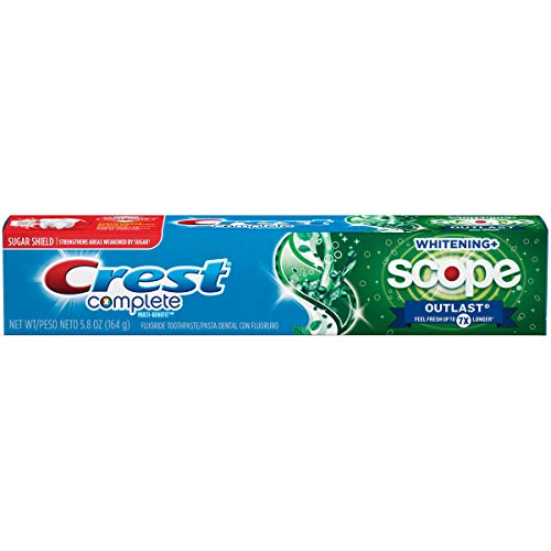 Amazon.com: Crest Complete Whitening Plus Scope Outlast Mint Toothpaste, 5.8 Ounce: Beauty