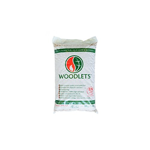 LAND ENERGY WOODLETS PREMIUM WOOD PELLETS FUEL BOILERS STOVES 10KG BAG 6MM by Land Energy by Land Energy