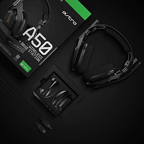 ASTRO Gaming A50 Wireless + Base Station for Xbox One & PC – Black/Gold 41dqaa16hqL