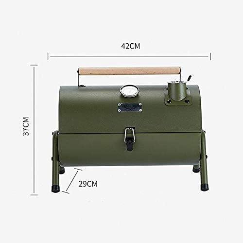 YDHWT Portable BBQ extérieur Grill Patio Camping de Pique-Nique Barbecue Poêle Adapté, Armée Verte