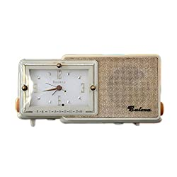 Bluetooth Speaker 1950s Ivory Bulova #100 Clock Radio Mp3 Player