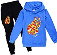 CFC PrestonPlayz Game Boy and Girls Pullover Sweatshirt Suit, Teen Hooded Sweatshirt Suit