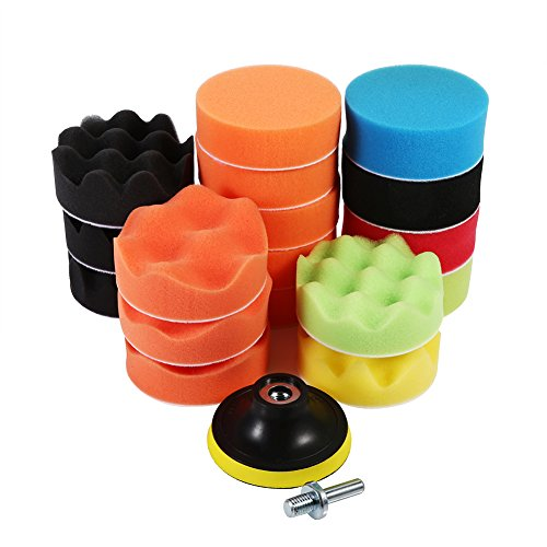 19pcs Sponge Polishing Waxing Adapter