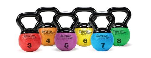 Aeromat Mini Kettlebell Medicine Ball, 3-Pound, Red
