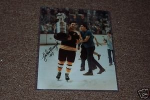 - Johnny Bucyk Autographed 8x10 Photo Holding Cup