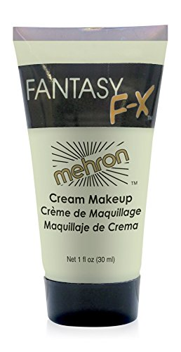 Mehron Makeup Fantasy F/X Water Based Face & Body Paint, LIBERTY GREEN– 1oz Carded (Green Face Makeup)