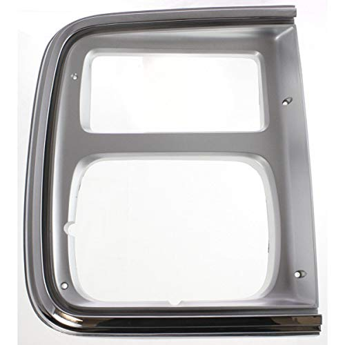 - Headlight Door For 1985-1991 Chevrolet G20 Left Chrome w/Parking Light Hole