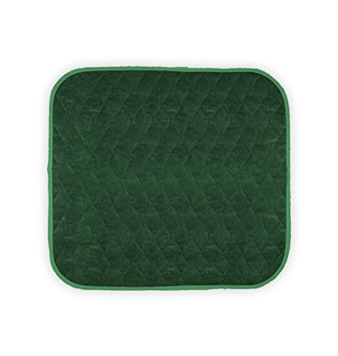 """Americare Absorbent Washable WaterproofSeat Protector Pads 21""""x22"""" - GREEN"""