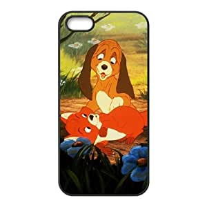iPhone 5 5s Cell Phone Case Covers Black Fox and the Hound opqr