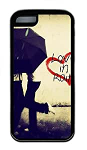 for iphone 4/4s Case Love In Rain TPU for iphone 4/4s Case Cover Black