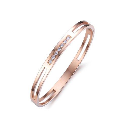 Opk Jewelry Fashion Titanium Stainless Steel Couple Bracelet Set Korea Design Cuff Bangle Gifts,women style