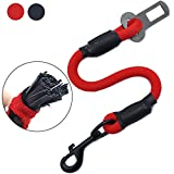 AMZNOVA Explosion-proof Rushed Dog Seat Belt Car Harness Restraint Pet Safety Latch Seatbelt Durable for Cat Puppy Small Large Dogs Travel Carring Red, S