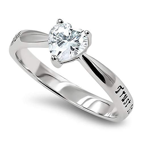 925 CZ Heart Silver Ring,