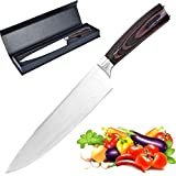 Chef Knife,8 inch Kitchen Knife,Stainless Steel Cooking Knife(1 Pack)