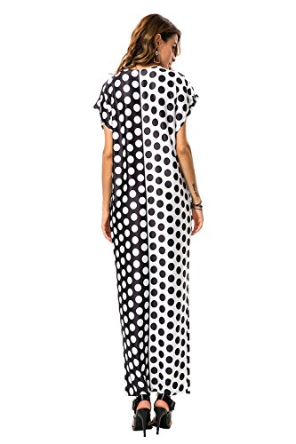 I vestiti maxi dalla stampa del puntino delle donne di modo 2017new vestono il vestito da sera elegante di stile allentato