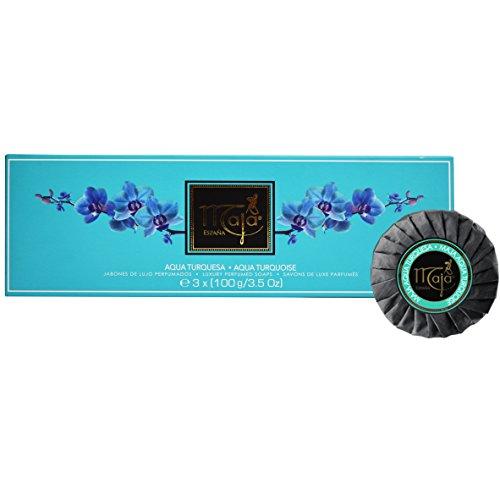 Maja Soap Aqua Turquoise Luxury Perfumed Soap, Aqua Trurquesa 3 x 3.5 Ounce