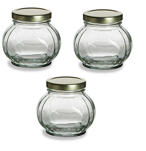 nakpunar 3 pcs 8 oz round glass jars for jam honey wedding favors shower favors baby foods canning spices