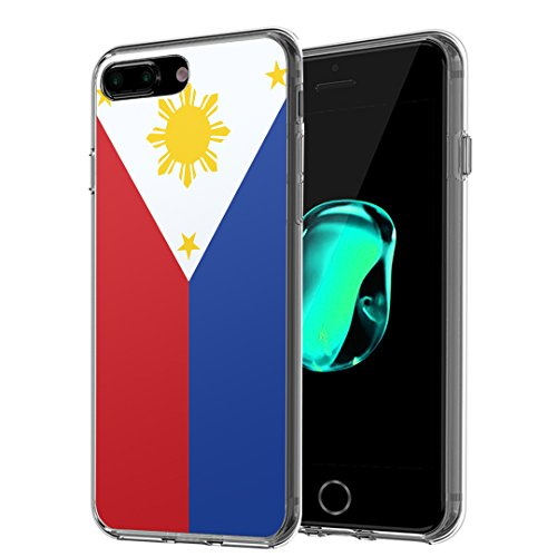 iPhone 7 Plus Case, Capsule-Case Slim Fit Snap-on (Clear) Hard Case for iPhone 7 Plus - (Philippines Flag)