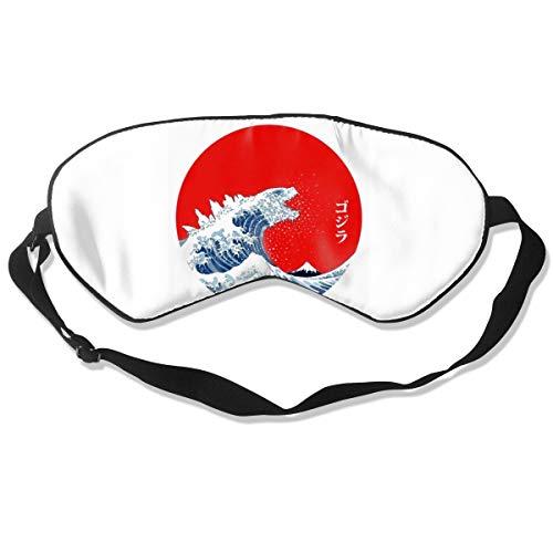 Godzilla Red Grunge Motif Natural Silk Sleep Mask, Best Sleeping Mask Eye Mask Eye Cover for Travel, Nap, Meditation, Blindfold with Adjustable Strap for Men, Women