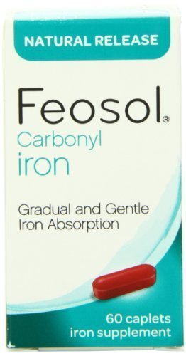 Feosol Natural Release, Iron, 45 mg, Vitamins, 60 Count (Pack of 3) by Meda Consumer Healthcare