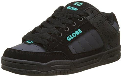 Globe Heren Kantelen Skateboarden Schoen Zwart Ebbenhout Blauwgroen