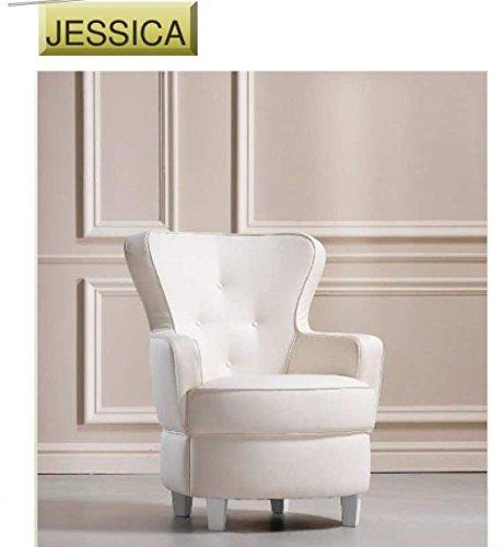 Sillón Jessica cm 70 x 77 H cm 90 de producción artesanal ...
