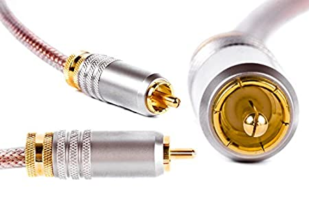 AKORD DIGITAL COAXIAL SPDIF DE AUDIO PREMIUM ORO RCA PHONO CABLE CONECTOR PARA SONIDO ENVOLVENTE DOLBY DTS ////