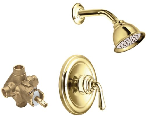 Moen T2444EPP-2520 Monticello Posi-Temp Shower Trim Kit with Valve, Polished Brass - Monticello Posi Temp Valve