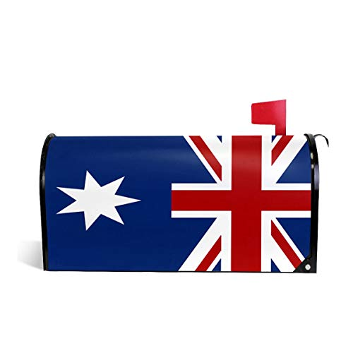 SSERFT Flag of Australia Mailbox Covers Standard Size Magnetic Mail Wraps Cover Letter Post Box 21x18 in]()