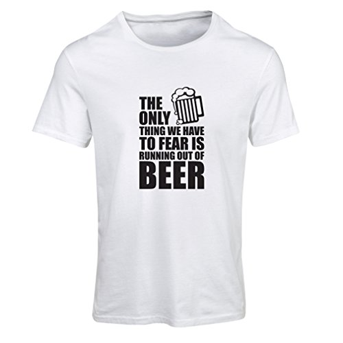 lepni.me T Shirts For Women To Fear To Run Out Of Beer - For a Party, Funny Drinking Beer Shirts (Large White - Albany Ny In Shopping